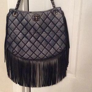 Authentic Rare Chanel Paris/Dallas 2014 Fringe Bag
